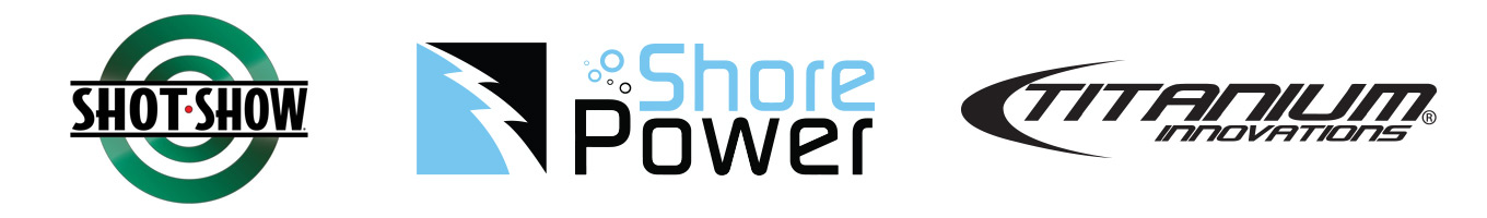 SHOT Show, Shore Power Inc, and Titanium Innovations Logo